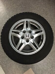 Artic Claw Winter Txi Studded Tires 195 65r15 91t Set Of 4 On 15 Honda Rims