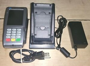 Verifone Vx 680 Pos Credit Card Machine With Charging Cradle Adapter