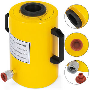 60 Tons 4 Stroke Single Acting Hollow Ram Hydraulic Cylinder Jack Updated
