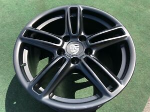 4 Genuine Porsche Panamera Wheels Rims Oem Factory Black 19 Inch Turbo