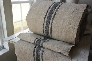 Vintage Stair Runner Hemp Fabric Material Organic Blue Old Per 1yd Oldd