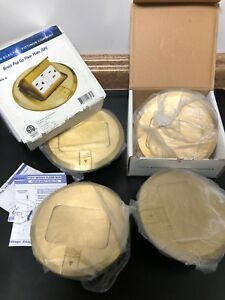 Lot Of 4 Lew Electric Pufp b Complete 6 Brass Pop Up Floor Box W Rec Gfi
