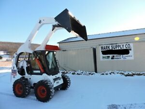 2007 Bobcat S300 Rubber Tire Skid Steer Loader Cab Heat Air 2 Speed Turbo Deisel