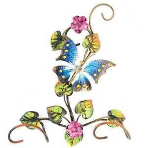 Coat Hangers Clothes Hook Butterfly Wrought Iron 2p