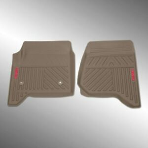 23452754 Yukon Front All Weather Floor Mats In Dune With Gmc Logo