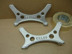 2 Nos Vintage Eelco Fuel Gas Tank Aluminum Mount Brackets Chevy Ford Mopar Moon