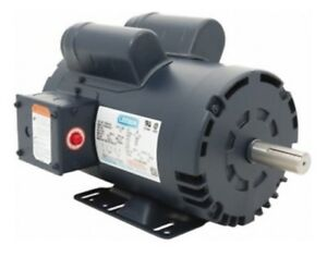 Leeson Electric Motor 120554 00 5 Hp 3450 Rpm Single Phase 230v 145t Frame