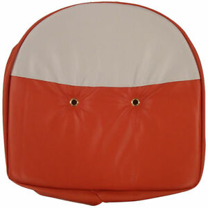 Universal Cushion Seat Cover Orange White For Mower Farm Tractor Allis chalmers