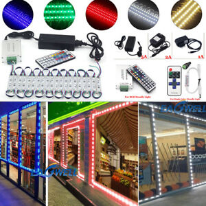 Us Single Color 10 500ft 5050 Smd 3 Led Module Store Window Light remote power