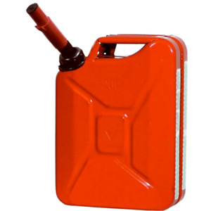 Jerry Gas Can Metal 5 Gallon Capacity Portable Fuel Container Storage Transport