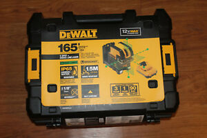 New In Box Dewalt Dw0825lg 12 Volt 5 Spot Cross Line Laser Level 165 Range