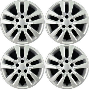 New Set Of 4 16 Inch Silver Aftermarket Wheel Covers Hubcaps For 2013 14 Altima