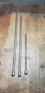 Snap On Tools 24 18 And 11 Long 3 8 Drive Extension Adaptor Bars Lot 3