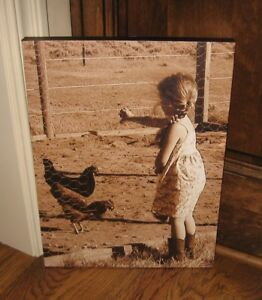 Chicken Rooster Canvas Wall Picture Primitive French Country Farmhouse Decor