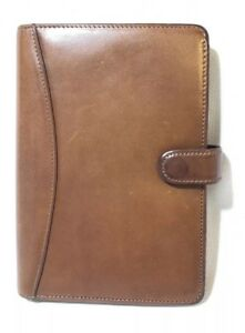 Vintage Franklin Covey Calfskin Leather Pocket Planner Binder Euc