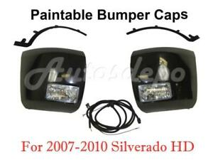 Front Bumper End Blk Fog Light Harness Filler For Silverado 2500hd 6 6l 2007 10