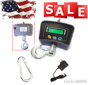 Crane Scale 500kg 1100lbs Industrial Hook Hanging Weight Digital Lcd Good