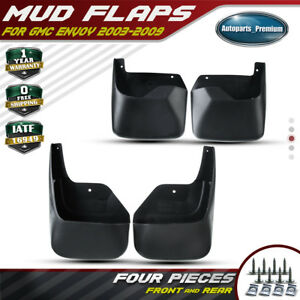 4pcs Splash Guards Mud Flaps Front Rear For 02 09 Gmc Envoy 12497606 12497607