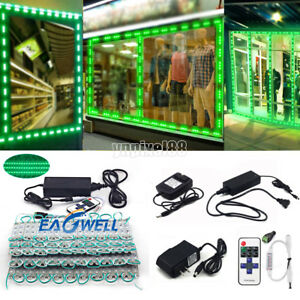 Green 10~500FT 5050 SMD 3LED Module STORE FRONT Window Sign Light Strip DIY Kits