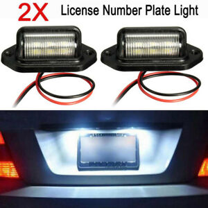 2x 12 24v 6led Car Boat Truck Step Lamp License Plate Light Universal Waterproof