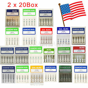 200 Pcs Sale Dental Diamond Burs Flat end Tapered Fg 1 6mm For Handpiece Whb