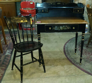 Vintage Solid Maple Ethan Allen Hitchcock With Chair