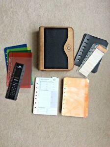 Classic 1 75 Green Line Blk Brown Leather Planner Binder Franklin Covey Unused