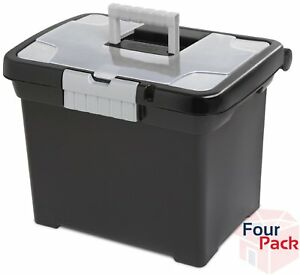 4 pack Filing Boxes Storage Documents Files Office Supplies 15 X 10 9 X 11 5