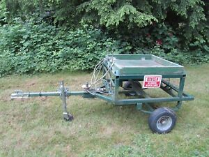 Portable Airport Aircraft Oxygen Servicing Cart Utility Trailer Tool Mechanic