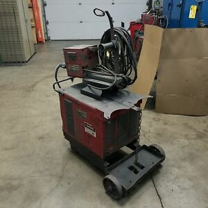 Lincoln Electric Cv 300 Power Supply With Ln 7 Wire Feeder Used