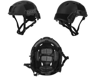 Lancer Tactical ACH Base Jump Airsoft Military Simulation Helmet in Black MedL