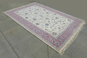 Vintage Persian Indokashan Wool Area Rug 70 X 112