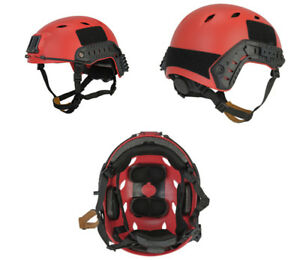Tactical ACH Base Jump Airsoft Military Simulation Helmet in Red LXL CA-334R