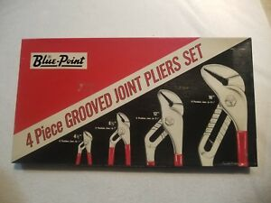 4 Pc Blue point Grooved Joint Pliers Set Slip joint Tongue Groove Hl404