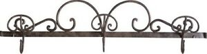 Coat Hangers Clothes Hook A 3 Places Wrought Iron