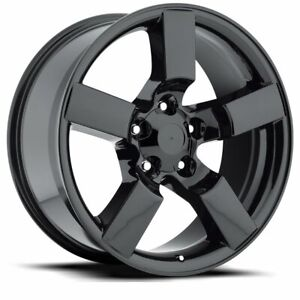 Factory Reproductions Fr50 Ford Lightning Rim 20x9 5x135 Offset 8 Blk Qty Of 1