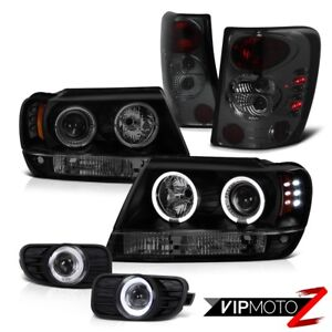 99 03 Jeep Grand Cherokee Projector Headlight Tail Lamp Led Driving Fog Offroad