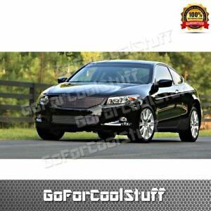 For Honda 2008 09 2010 Accord Coupe 1pc Upper 1pc Bumper Billet Grille Combo