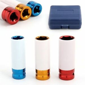 1 2 Thin Wall Deep Impact Socket Set Plastic Sleeve Lug Nut 17mm 19mm 21mm