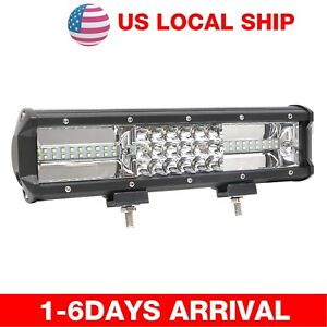 324w 3rows Led Work Light Flood Spot Lamp For Offroad Truck Tractor Boat Bar 12v
