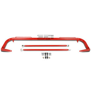 49 Coated Steel Racing Safety Seat Belt Chassis Roll Harness Bar Tie Rod Red