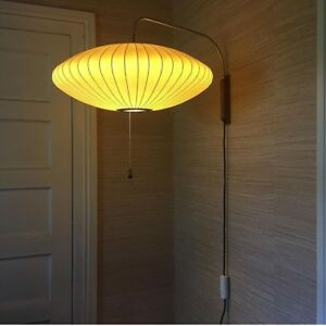 Vintage George Nelson Bubble Lamp Wall Sconce