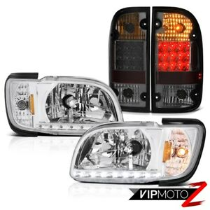 01 04 Toyota Tacoma Prerunner Smoked Rear Brake Lamps Headlamps Bumper Oe Style