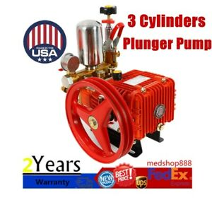 High Pressure 3 Cylinders Plunger Pump For Pesticide Spraying Machine Type26 Usa