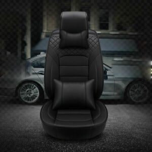 Full Set Car Seat Cover 5 seats Pu Leather Kit Suv Interior Accessories New