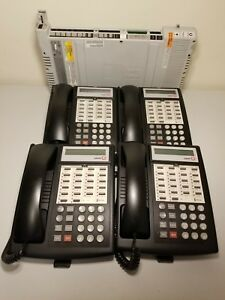 Avaya Partner Phone System With 4 Partner Euro 18d Office Phones Black