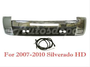 Front Bumper Chrome End Valance Fog Light Harness For Silverado 2500hd 2007 2010