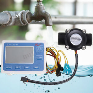 G3 4 Flow Water Sensor Meter Digital Lcd Display Quantitative Control 1 60l m