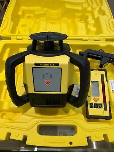 Leica Rugby 610 Self Leveling Rotating Laser Rod Eye 120 With Case