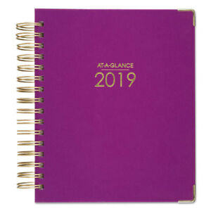 Harmony Daily Hardcover Planner 6 7 8 X 8 3 4 Berry 2019